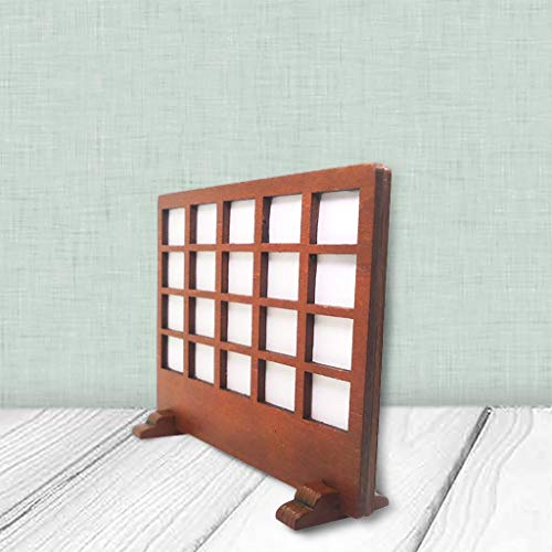 m·kvfa 1:12 Wooden Doll House Mini Wooden Furniture Screen Pretend Play Dollhouse Furniture Accessory for Living Room from *m·kvfa* Dollhouse