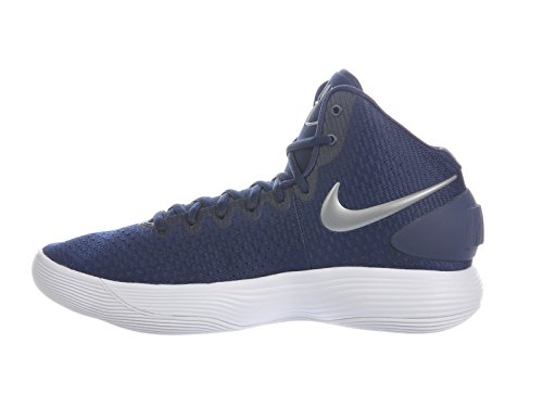 Nike Mens Hyperdunk 2017 Basketbalschoen Wit-navy Blue
