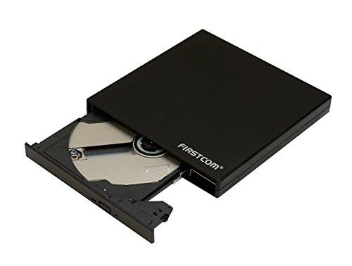 Firstcom USB DVD RW Drive External CD/DVD/DVDRW Slim Portable Rewriter Burner Writer for Apple Mac Macbook Pro and PC Notebook Netbook Ultrabook