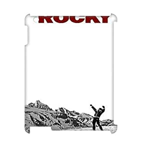 Ipad 2,3,4 3D DIY Phone Back Case with Rocky Image