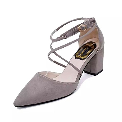 Tipped Chaussures Chaussures Sandales L'High Romaines SHOESHAOGE Heel Grain EU36 Avec Shoes Flat Femmes Gros qtS0wX