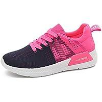 konhill transpirable Athletic de la mujer Caminar Casual Sneakers Lace Up–Correr Calzado deportivo