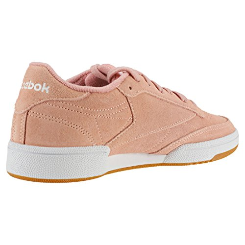 Reebok Men's Club C 85 So Gymnastics Shoes, Black/White Peach