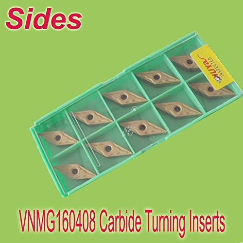 1 loting VNMG 160408 Carbide Inserts for Turning CVD Coated for General Machining Used On Lathe Holder MVJNR/MVVNN/MVQNR ()