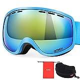 Kids Ski Goggles, Gonex Anti Fog 100% UV Protection Snow Goggles for Boys& Girls Children Toddler with Case