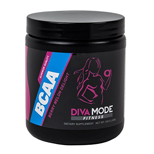 DIVA MODE BCAA - AMAZING Tasting 5:1:1 Branch Chain Amino Acid Supplement plus 2000mg L-Glutamine and Electrolytes for Women