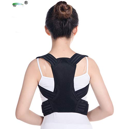 Straight Type Shackles (BHM Correction Belt, Zhongshan Type Posture Correction Belt Correction Figure Adult Children use Breathable Lightweight Type to Correct Hunchback (Size: M, L, XL))