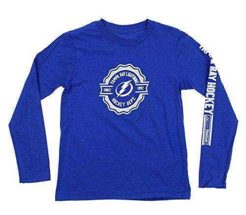 - Reebok NHL Youth Boys 8-20 Long Sleeve Icon Tee, Tampa Bay Lightning