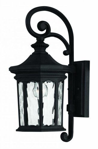 Hinkley 1600MB, Raley Cast Aluminum Outdoor Wall Sconce Lighting, 60 Total Watts, Black