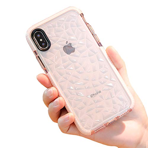 iPhone Xs Max Case, Ultra Hybrid Clear Case with Air Cushion Technology Drop Protecion, Full Protective Cases Cover Compatible for Apple iPhone Xs Max (2018) - Pink