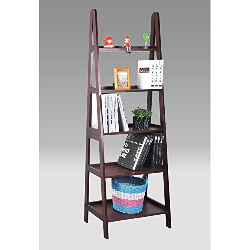 Mintra Mintl889-25BK01 Leaning Ladder Shelf with 4 Drawers White Finished by Martin Tools