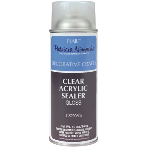 Plaid Patricia Nimocks Clear Acrylic Sealer (12-Ounce), CS200305 Gloss -