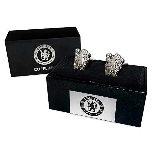 Chelsea Football Club Official Soccer Gift Boxed Chrome Executive Cufflinks ()