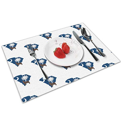 chang jin you Placemats Set of 4,South Carolina Boykin Spaniel Heat-Resistant Placemats Washable Table Mats for Kitchen Dining Table