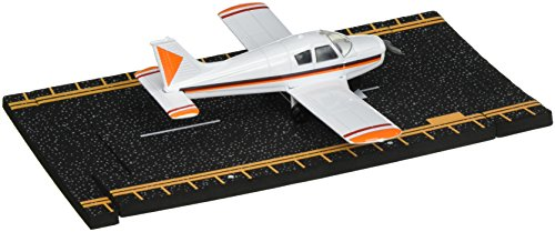 Hot Wings Piper Cherokee with Connectible Runway Die Cast Model Airplane, (Hot Wings Diecast Toy Airplane)
