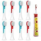 iHealthia Sonicare for Kids Replacement Brush Heads COMPACT HX6032 for Philips Sonicare Kids Rechargeable Toothbrush, 8-pack