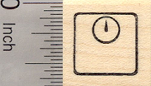 Small Scale Rubber Stamp; .55 inch Tall, Great for Fitness Log