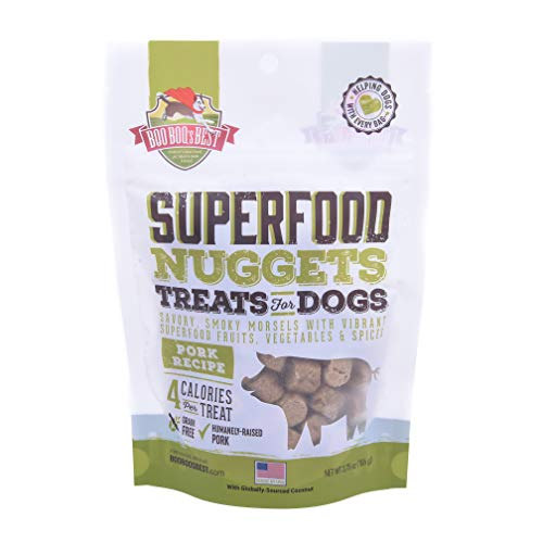 Boo Boo's Best Super Food Nuggets Treats for Dogs, Pork Recipe, 3.75oz