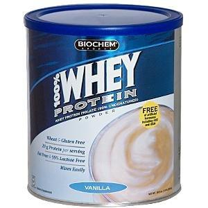 Biochem 100% Whey Protein, Vanilla, 29.9 Ounce