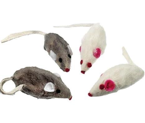 Karlie Catnip Fell Ratones - Juego de 4, Juego ratones para gatos: Amazon.es: Productos para mascotas