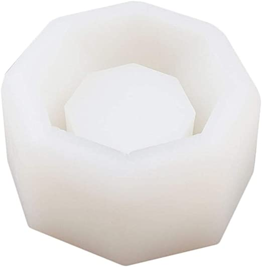 Diamond Shaped Surface Succulent Plant Flower Pot Silicone Mold DIY Ashtray Candle Holder Mould