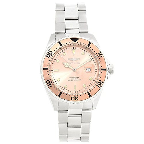 Invicta 22052 Gent's Rose Gold Dial Steel Bracelet Dive Watch