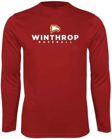 CollegeFanGear Winthrop Performance Cardinal Longsleeve Shirt Baseball
