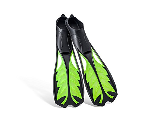Jueachy Long Blade Scuba Diving Fins Flippers for Snorkeling, Swimming, Freediving, Adult (Long Flippers Diving)