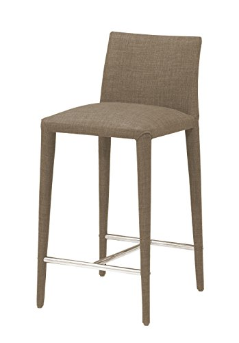 Cheap Moe's Home Collection Catina Upholstered Counter Stools (Set of 2), Cappuccino