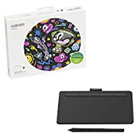 Wacom Intuos Bluetooth, Small Black wireless graphic tablet, with 2 free creative software downloads, Corel Painter Essentials, Clip Studio Paint Pro or Corel Aftershot (CTL4100WLK0)