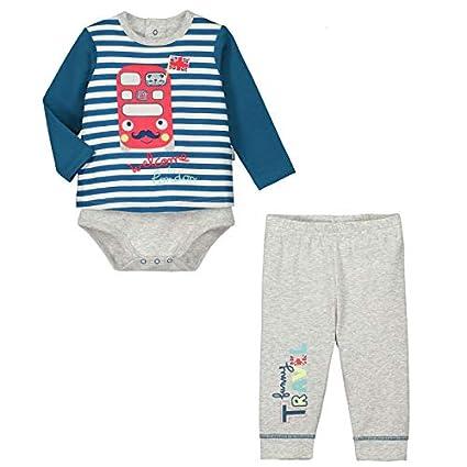 213b7b5b91bab Petit Béguin - Ensemble bébé garçon body T-shirt + pantalon Funny London -  Couleurs