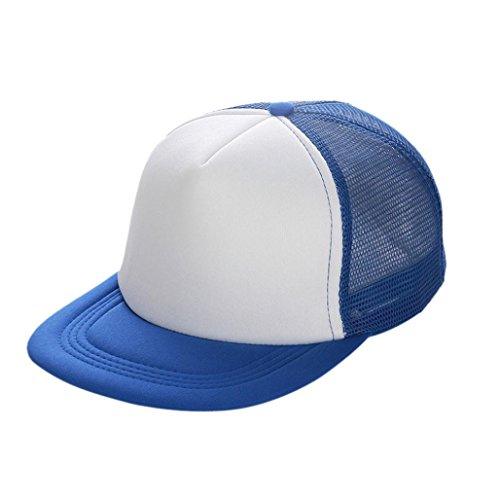 Aniywn Clearance Price! Unisex Mesh Net Cap Flat Eaves Baseball Cap Hat Blank Visor Hat Adjustable (Free Size, - Navy Cap Pet