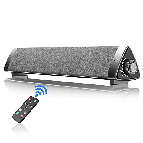 Bluetooth Sound Bar, VersionTECH. Wired & Wireless Computer Speaker PC Soundbar with Remote Control, Built in Mic for Desktop Laptop Cellphone Tablet Gaming Music