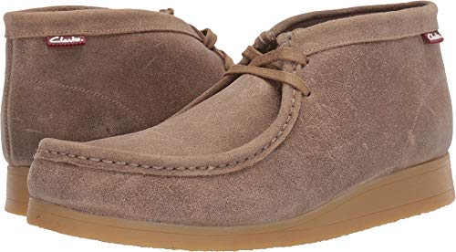 CLARKS Men's Stinson Hi Fashion Boot, Taupe Distressed Suede, 10.5 M US ()