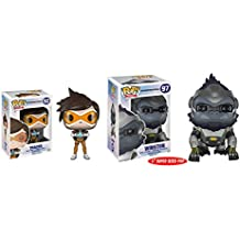 Funko POP Games: Overwatch Tracer and Winston Toy Action Figure - 2 Piece BUNDLE