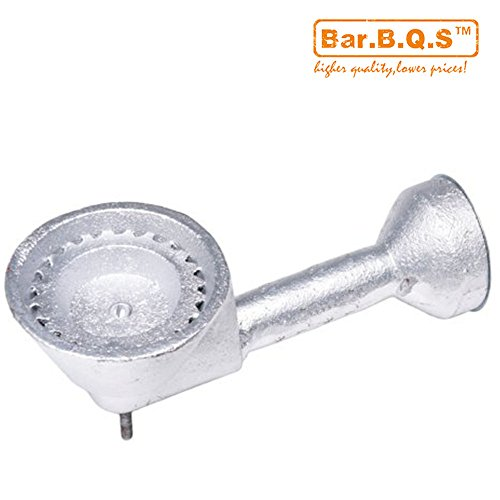 Bar.b.q.s BG10 High Pressure Cast-Iron Replacement Burner for Round Bayou Classic Cooker Frames (Cast High Burner Iron Pressure)