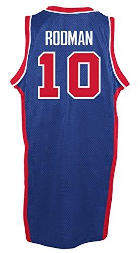 Dennis Rodman Detroit Pistons Adidas NBA Throwback Swingman Jersey - Blue