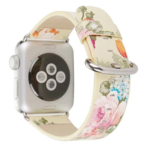Urberry 38mm Woven Nylon Fabric Replacement Band for Apple Watch Series 2, Series 1, Sport, Edition (Flower1) ()