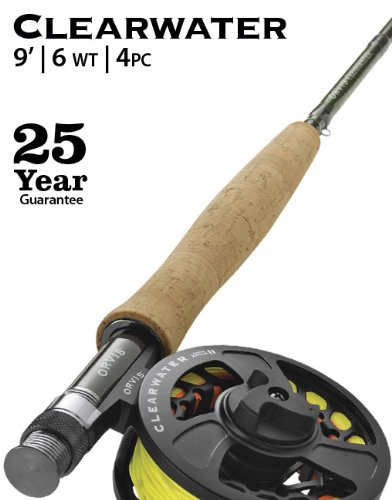 6wt Fly Rod Outfit - Orvis Clearwater Fly Rod Outfit 906-4 - 6wt 9ft 4pc