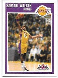 (Samaki Walker 2002-03 Fleer Tradition Los Angels Lakers Card #64)