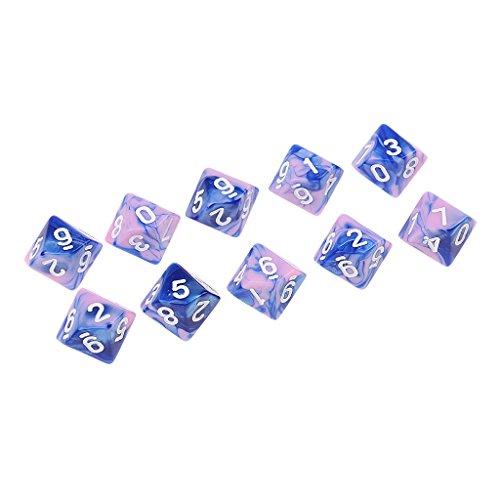 Baoblaze 10個 10面体 D10ダイス 多面体 サイコロ DND RPG MTGゲーム用 全7スタイル - スタイル7の商品画像