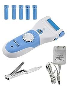 Kikar eléctrico lavable duro piel/eliminador de callos con rueda libre de repuesto y cepillo de limpieza ZYTkQCFqx
