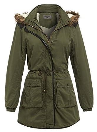 5d17823ba123b SS7 nouvelles femmes doublé sherpa Manteau parka , kaki, Tailles 10 à 16:  Amazon.fr: Vêtements et accessoires
