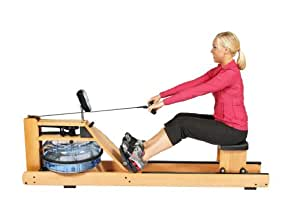 H2O Fitness Seattle Wooden Rower WRX-1000 Water Rowing Machine