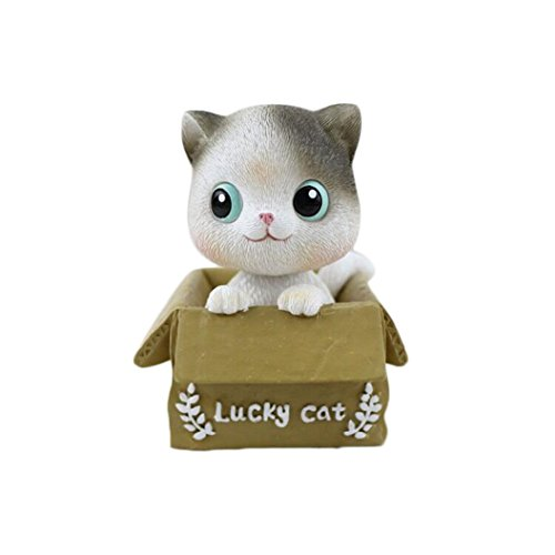 Botrong New!!! Creative Cute Cat Shaking head Ornaments -