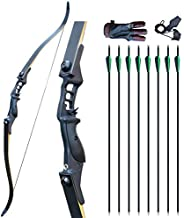 """Enxi Bow and Arrows for Adults 52"""" Archery Set Metal Riser Recurve Bow 30-50lb Right Hand Takedown Bow wi"""