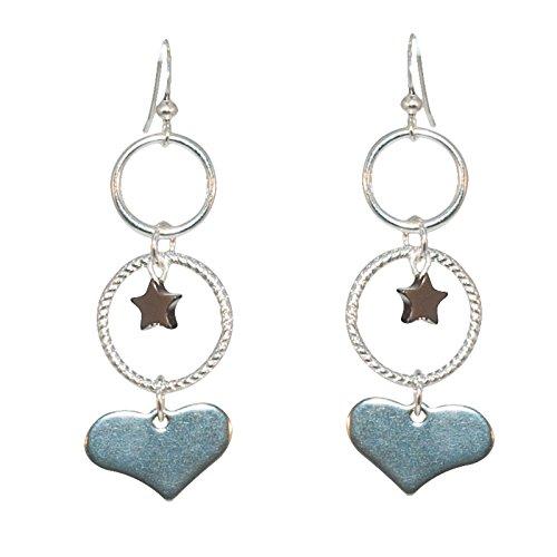 Créative Perles - Boucles d'oreilles Cœur Argent - Argenté