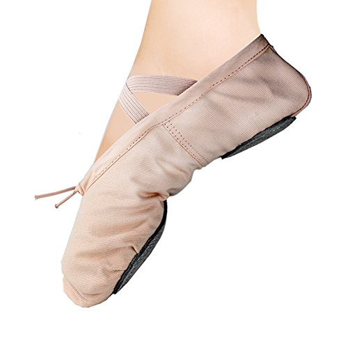 Ballet Slipper Shoes Pointe Canvas Split Sole Practice Ballet Dancing Gymnastics Shoes Ballet Flat Slipper Yoga Shoes US8.5