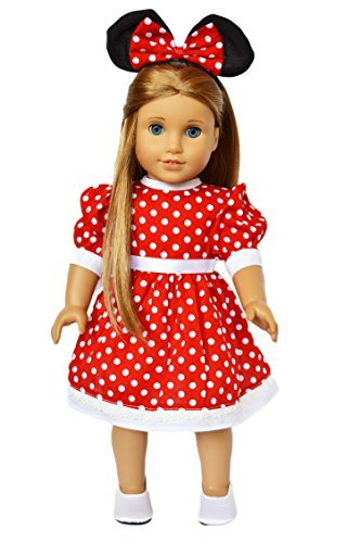 My Brittany's Red Dot Dress Compatible with American Girl Dolls- 18 Inch Doll Clothes