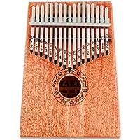 Wooden 17 key Kalimba with Mahogany Portable Thumb Piano Mbira Marimba Sanza of Attached Ore Metal Tines With bag Gift…